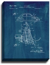 Automobile Air Conditioning System Patent Print Midnight Blue on Canvas - $39.95+