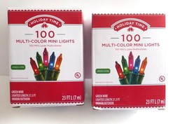 Holiday Time 100 Multi-Color Mini Lights 23ft String Indoor/Outdoor, Set... - $9.50
