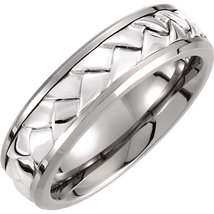 Titanium & Sterling Silver Inlay Woven Band - $159.99