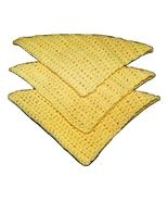 Dishcloths, Set of 3 Sunny Yellow Handmade 100%... - $7.50