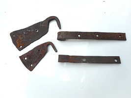 Early Antique Vey Rare Pair of Wrought Iron Door Hinges - $35.00