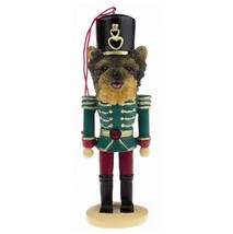 YORKIE PUPPY CUT DOG CHRISTMAS ORNAMENT NUTCRACKER SOLDIER HOLIDAY XMAS ... - $12.98