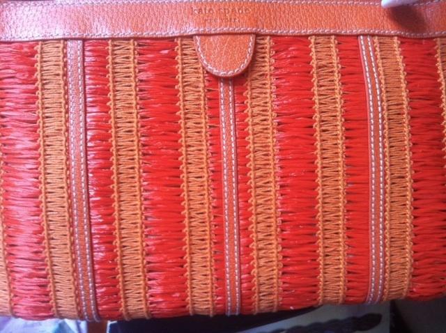 KATE SPADE purse shoulder bag clutch gold chain worn 3 ways $350 NEW w/ dust bag