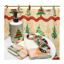 Carnation Home Fashions O' Christmas Tree 16 Piece Bath Set - 1301-XFSC-... - £30.14 GBP