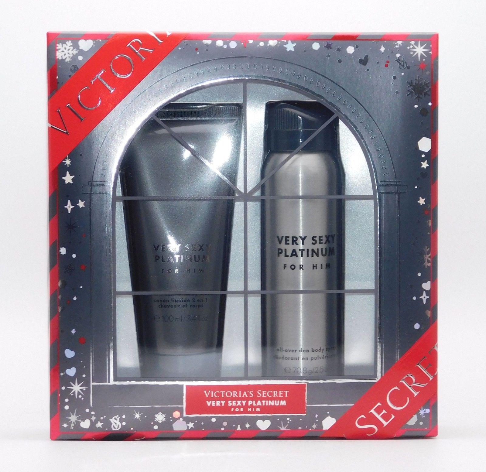 Used, Victoria's Secret Very Sexy PLATINUM for Him 2 Pc Set: Body Spray & Shower G for sale  USA