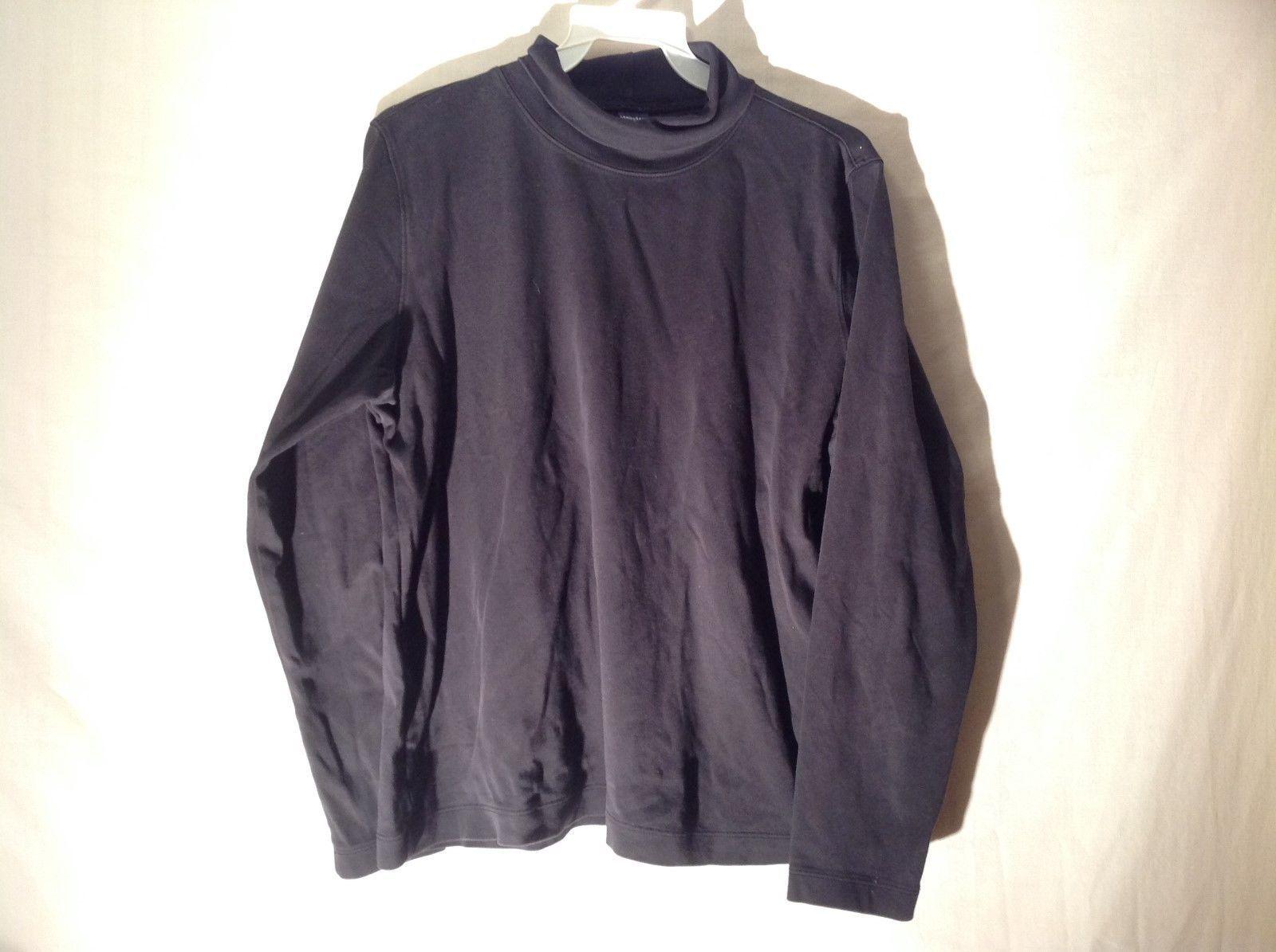 Women's Land's End Black turtle neck Sweatshirt