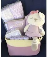 Violet Bunny Baby Gift Basket - $69.00