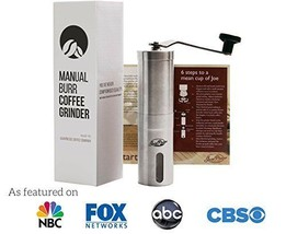 JavaPresse Manual Coffee Grinder Brushed Stainl... - $65.28
