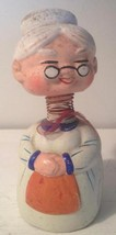 Vintage Bobble Head Coin Bank Grandmother Ucagco Ceramics Japan Mid Century 50's