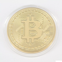 Bitcoin Collector's Coin Set w/Display Case - 2Pcs w/Random Color and Design image 5