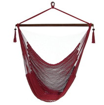 Caribbean Extra Large Red Hanging Hammock Swing... - $79.99