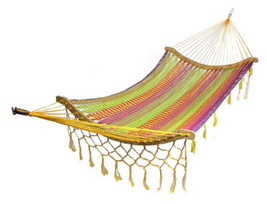 Thick Cord Mayan Multi Color Cotton Hammock Wit... - $139.99