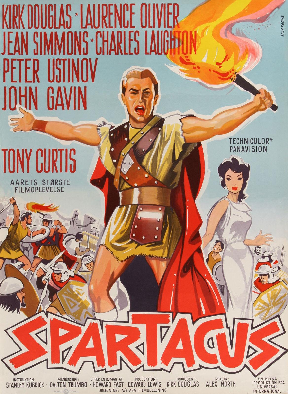 SPARTACUS Movie Poster 1960 Stanley Kubrick Lawrence ...