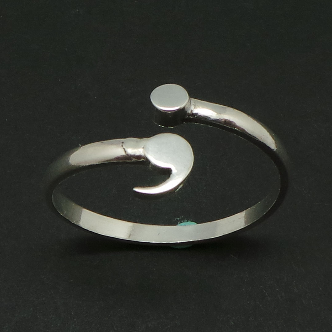Sterling Silver Semicolon Ring- Mental Health Awareness, Suicide Depression image 8