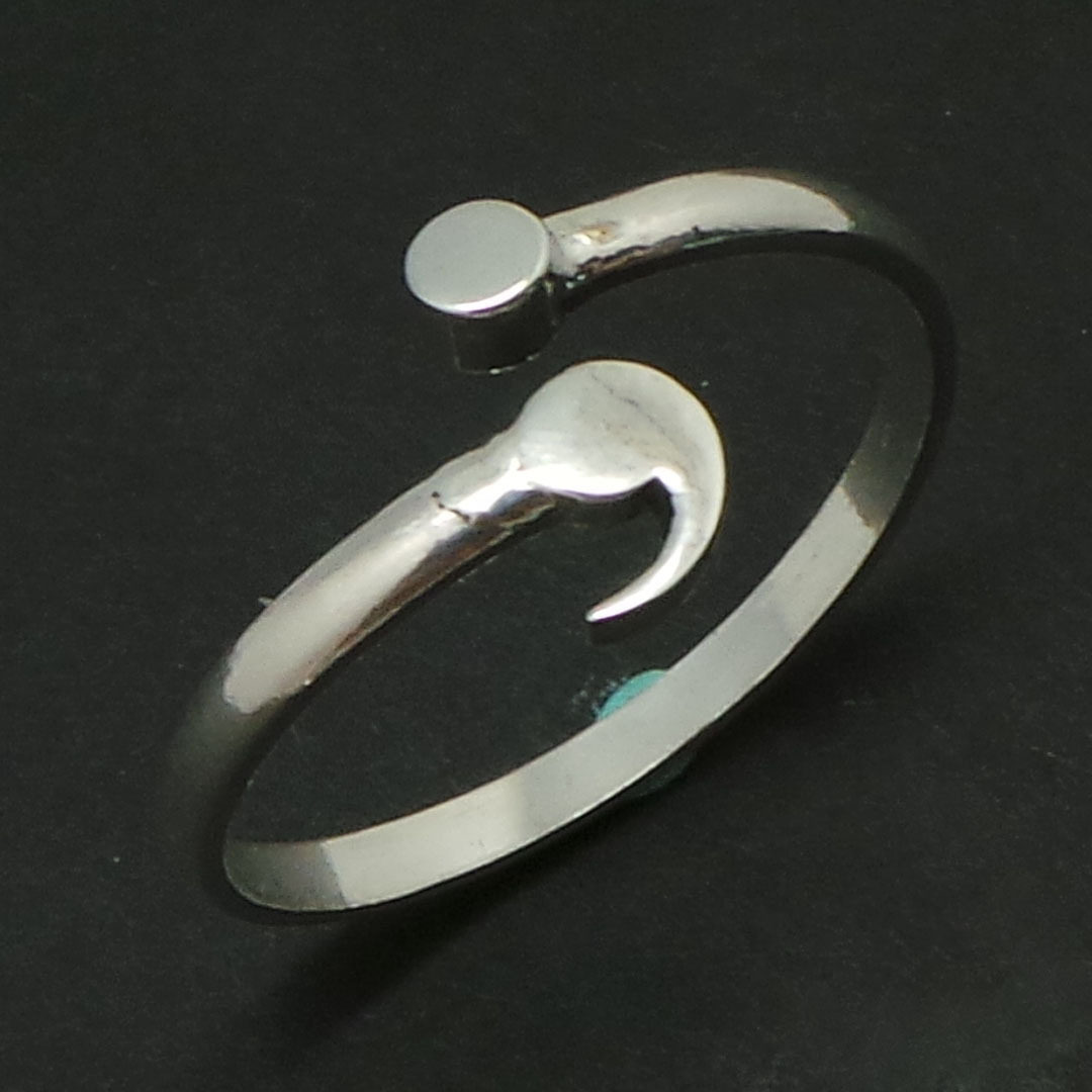 Sterling Silver Semicolon Ring- Mental Health Awareness, Suicide Depression image 9