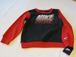 Nike 5 Boy's kids youth long sleeve sweat shirt 86A419 023 black red  NEW  - $43.55