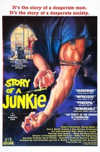Story of a Junkie Movie POSTER (1985) Indie/Drama - $6.07+
