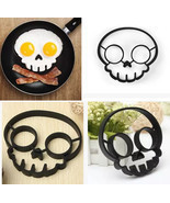 1Pcs Black Fred Egg Shaper Funny Side Up Skull ... - $13.10