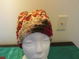 Handmade Womens Bun Style Hat - Fall Colors Varigated - $12.99
