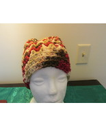 Handmade Womens Bun Style Hat - Fall Colors Varigated - $12.99