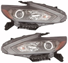 Nissan Altima 2016 Halogen W/O Led Drl Pair Headlights Head Lights Lamps Black - $980.10