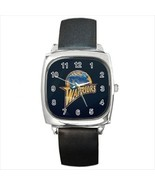 Golden State Warriors Round & Square Leather Strap Watch - Basketball NBA - $11.95