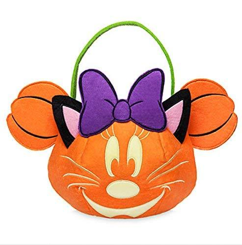 Disney Minnie Mouse Pumpkin Fabric Trick or Treat Halloween Glow Bucket