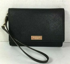 Kate Spade Small Black Saffiano Leather Wristlet Wallet Pouch - $46.55
