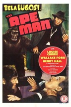 The Ape Man Movie POSTER (1943) Horror/Science Fiction - $6.98+