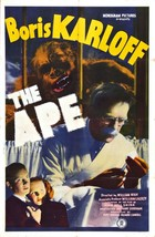 The Ape Movie POSTER (1940) Black and white/Drama Boris Karloff - $6.98+