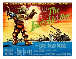 The Invisible Boy Movie POSTER (1957) Sci-Fi/Adventure - $6.28+