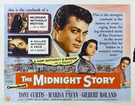 The Midnight Story Movie POSTER (1957) Detective/Mystery - $6.07+
