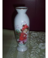 Vintage Lefton Christy Christmas Porcelain Bud Vase - $18.00