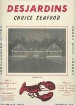Desjardins Seafood Menu Plastic Swizzle & Mailing Envelope 1956 Montreal... - $47.52