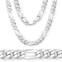 5.5MM Solid 925 Sterling Silver Figaro Link Italian Italy Men's Chain Ne... - $52.70+