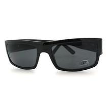 Mens Rectangular Sunglasses Classic Casual Biker Fashion Eyewear BLACK - $9.84