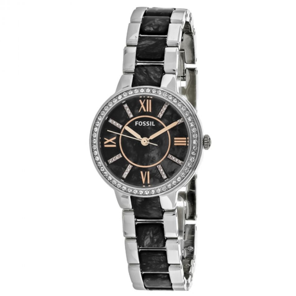 Primary image for Brand New Fossil ES3918 Virginia Charcoal Dial Two-Tone Bracelet Women Watch