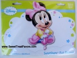 Disney Minnie Baby Party Balloon Shower Girl Birthday Decoration Mylar Pink 1st - $9.39