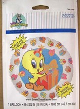 LOONEY TUNES Party Tweety Birthday Mylar Balloon Birthday Boy Girl Decor... - $5.40