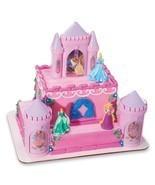 DISNEY PRINCESS Cake Topper Decoration CASTLE Kit Cupcake Belle Ariel Birthday * - $18.27