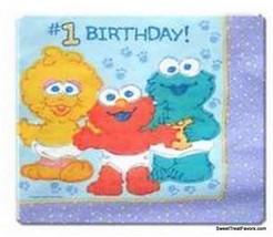 BABY ELMO Sesame Street Party NAPKINS LNH Supplies 1st First Birthday De... - $7.87