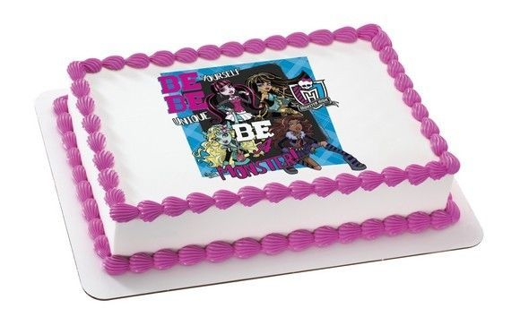 Superb Monster High Girls Edible Cake Topper Party And 39 Similar Items Personalised Birthday Cards Beptaeletsinfo