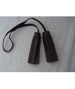 AUTHENTIC COACH BROWN LEATHER TASSELS  VGC - $12.15