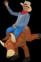 Western Rodeo Riding COWBOY BULL RIDER INFLATABLE COSTUME w-HAT Funny Ga... - $59.37