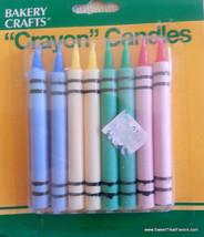 CRAYOLA CRAYON CAKE Party CANDLE Birthday Cupcake Decoration Supplies Co... - $6.82