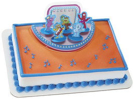 YO GABBA GABBA Cake Decoration Party Topper Set Kit Cupcake Rockin Band Foofa NW - $12.82