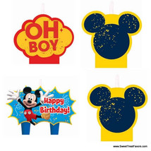 MICKEY MOUSE CAKE Party CANDLE Birthday Cupcake Decoration Supplies Minn... - $6.91