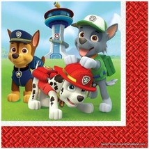 PAW PATROL NAPKINS Lunch Dog Birthday Decoration Party Supplies Boy x16 ... - $5.89