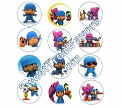 POCOYO Party Supplies Pocoyó 12 PINS Buttons FAVORS Decoration Birthday ... - $9.88