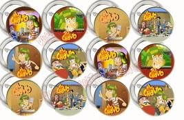 EL CHAVO Party Supplies Pocoyó 12 PINS Buttons FAVORS Kiko Chilindrina F... - $9.88